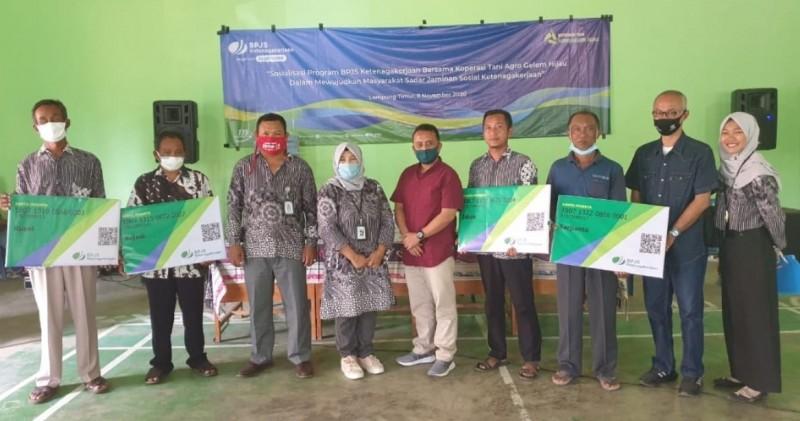 Petani di Gedungdalem Lampung Timur Dilindungi BPJS Ketenagakerjaan
