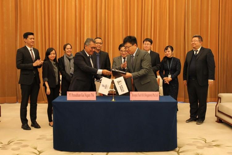 PGN dan Sinopec Teken Perjanjian Jual Beli LNG