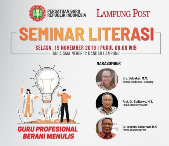 PGRI Lampung Gelar Seminar Tingkatkan Literasi Guru