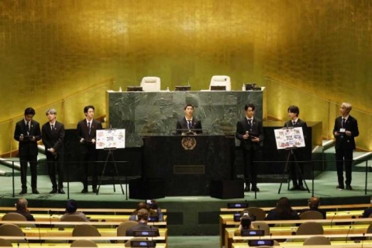 Pidato BTS di Sidang PBB Getarkan Dunia