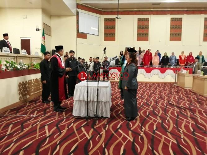 Pimpinan DPRD Tulangbawang Resmi Dilantik