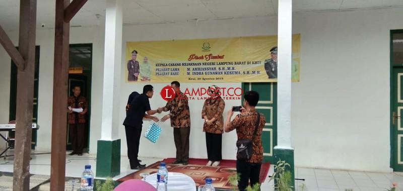 Pisah Sambut Kepala Cabang Kejaksaan Negeri Lampung Barat di Krui