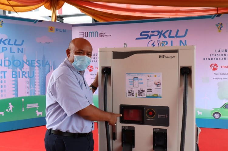 PLN Lampung Launching SPKLU di Tol Bakauheni
