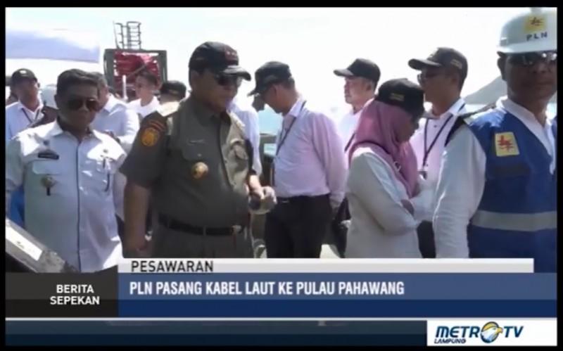 PLN Pasang Saluran Kabel Laut Tegangan Menengah Di Pulau Pahawang
