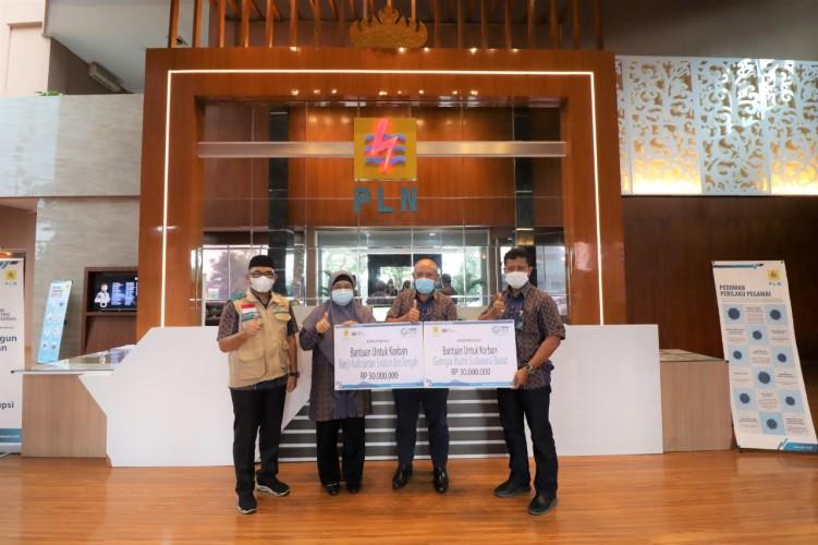 PLN UID Lampung Salurkan Rp80 Juta untuk Korban Banjir dan Gempa