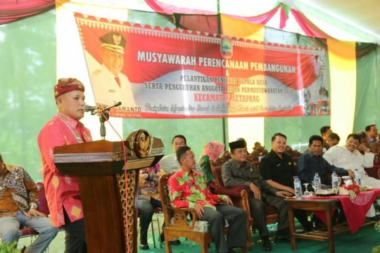 Plt Bupati Nanang Ermanto Lantik 4 Penjabat Kepala Desa