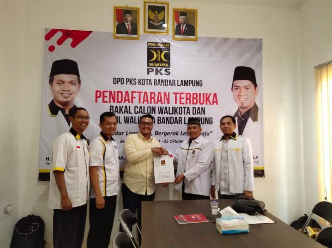 Plt Ketua DPD PAN Bandar Lampung Daftar Penjaringan Calon Wali Kota