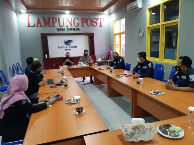 Polda Lampung Apresiasi Pemberitaan Lampung Post