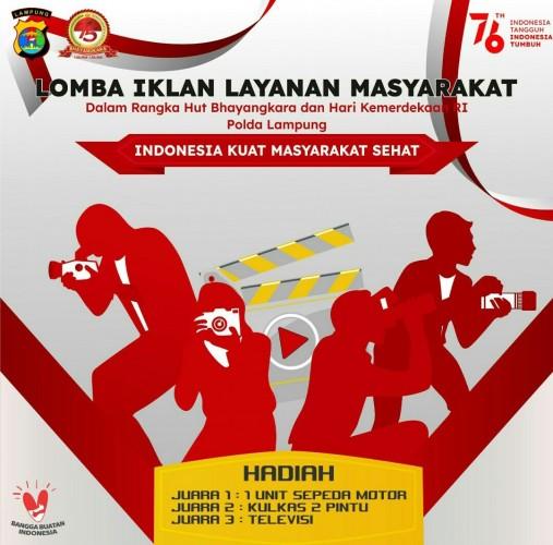 Polda Lampung Gelar Lomba Video Berhadiah Motor hingga Kulkas, Ini Syarat dan Ketentuannya