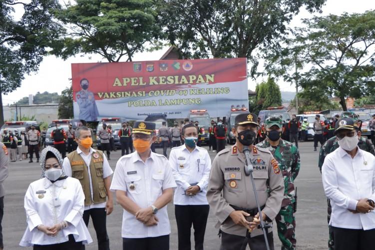 Polda Lampung Hadirkan Program Vaksinasi Keliling