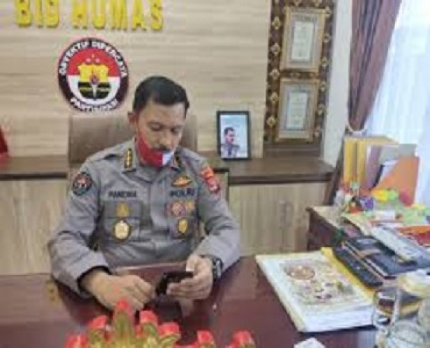 Polda Lampung Mengampanyekan Penggunaan Masker