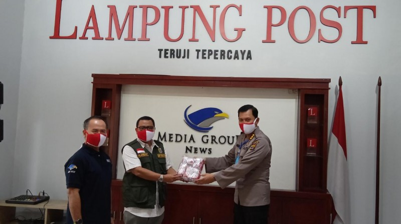 Polda Lampung Sosialisasi Maklumat Kapolri ke Awak Media Lampung Post
