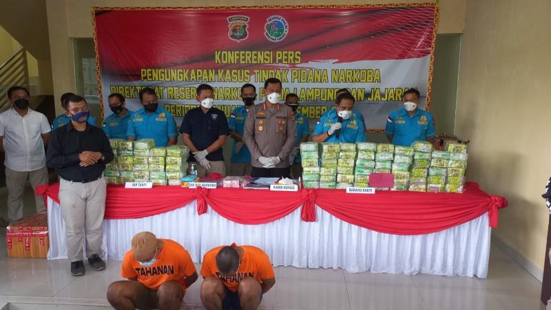 Polda Lampung Ungkap 1.414 Kasus Narkoba Selama Sembilan Bulan