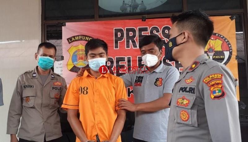 Polisi Bekuk Pelaku Perampasan HP Mahasiswi Polinela