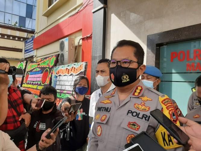 Polisi Buru Pelaku Teror Pos Polisi di Makassar