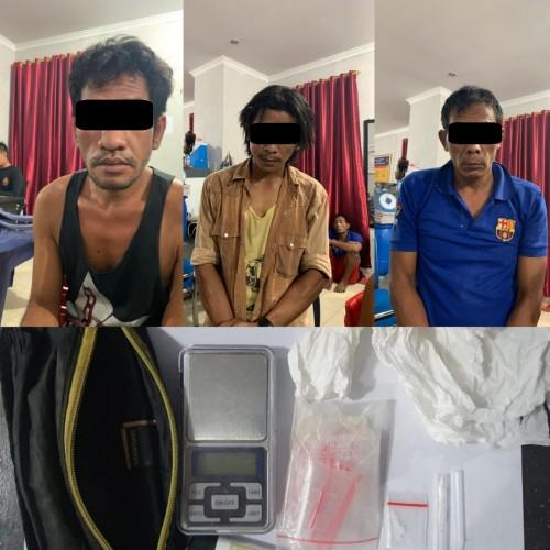 Polisi Ciduk Tiga Warga Natar Pengedar dan Pengguna Sabu