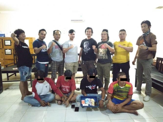 Polisi di Lampung Tengah Bekuk Empat Penjudi