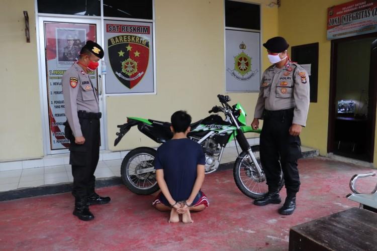 Polisi di Pringsewu Bekuk Penadah Sepeda Motor