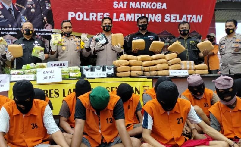 Polisi Gagalkan Penyelundupan Narkoba Puluhan Miliar Selama Oktober