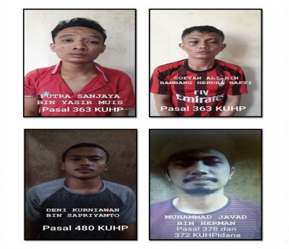 Polisi Minta 4 Tahanan Kabur dari Polsek Natar Menyerahkan Diri