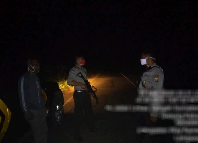 Polisi Olah TKP Kasus Penganiayaan Pengendara Motor di Jalinsum Baradatu