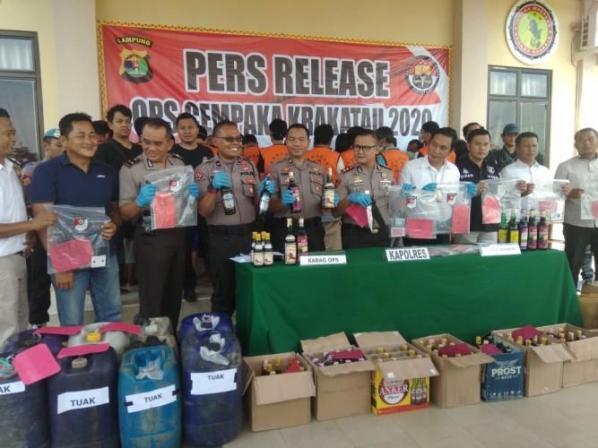 Polisi Ringkus 25 Bandit di Pesawaran Selama Operasi Cempaka