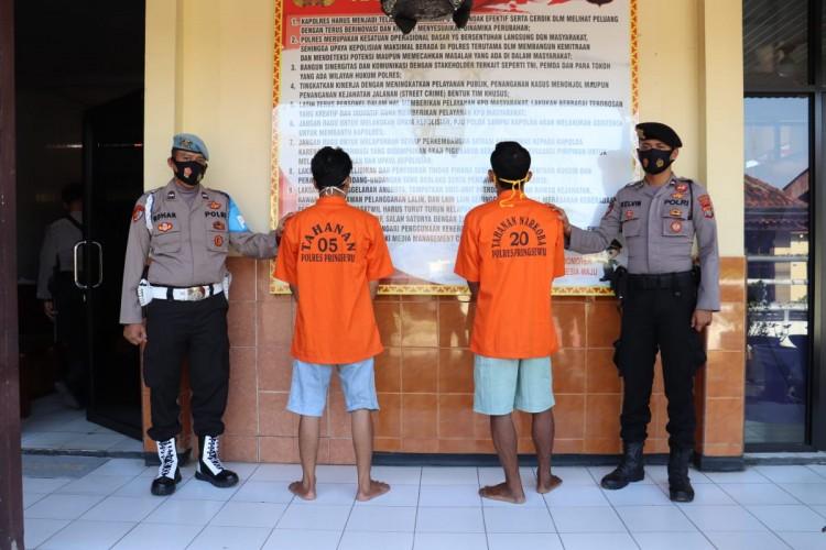 Polisi Ringkus Dua Warga Pringsewu Pengguna Sabu