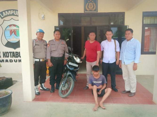 Polisi Ringkus Spesialis Pencuri Motor di Kotabumi Utara