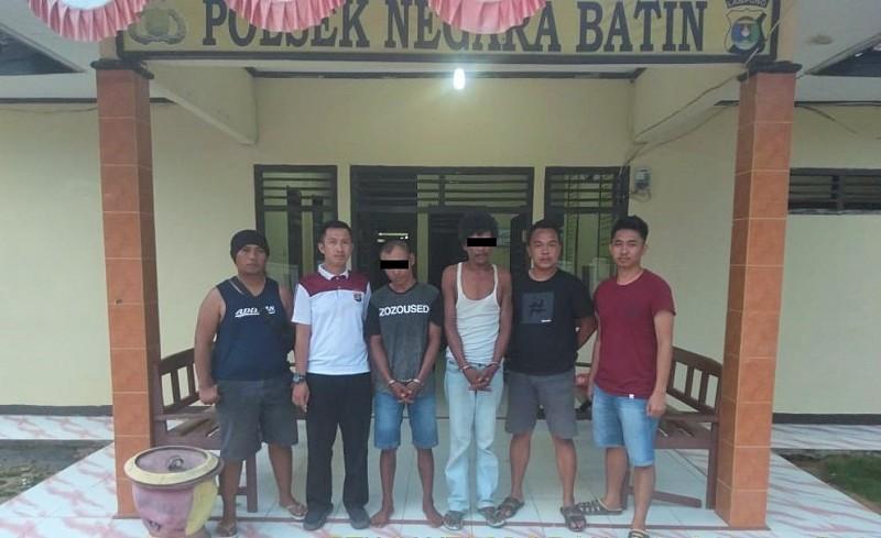 Polisi Tangkap Dua Pengguna Sabu di Negara Batin