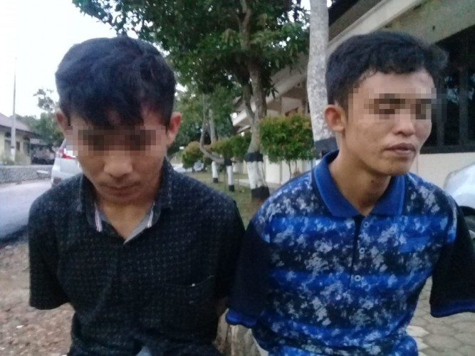 Polisi Tangkap Dua Penjambret yang Kerap Beraksi di Kotabumi