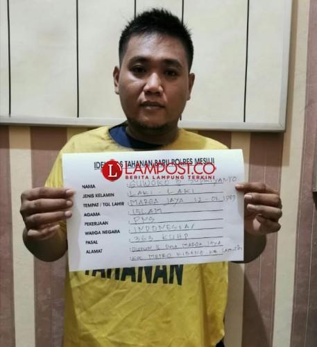 Pembobol SMA 1 Mesuji Ditangkap