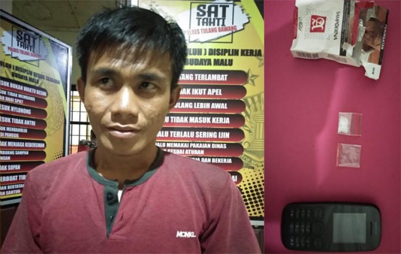 Polisi Tangkap Pengedar Sabu yang Kerap Transaksi di Kebun Singkong