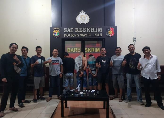 Polisi Tangkap Tiga Pengedar Sabu di Negeri Agung