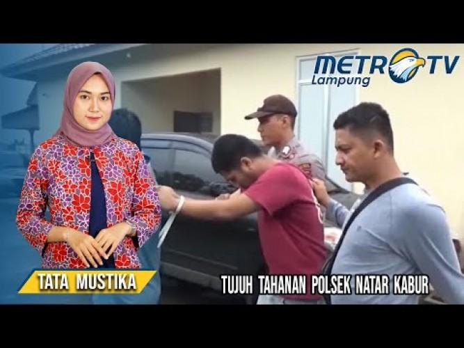 Polisi Tangkap Tujuh Tahanan Kabur dari Polsek Natar