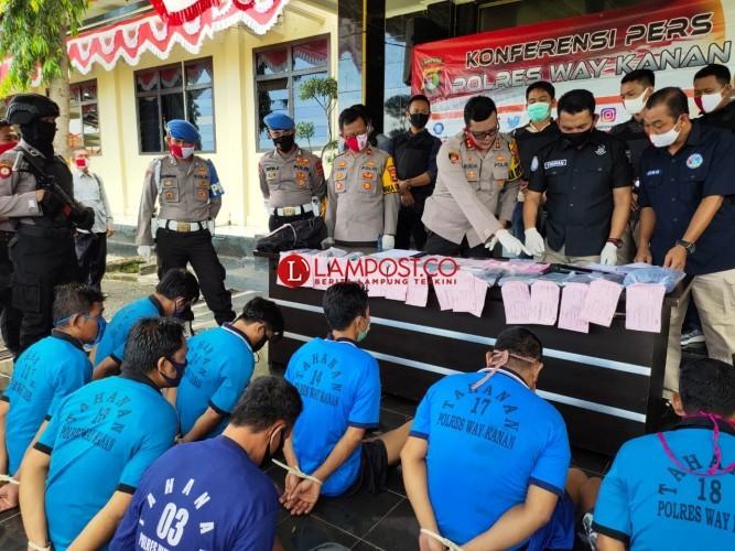 Polisi Ungkap Peredaran Narkoba di Lapas Way Kanan