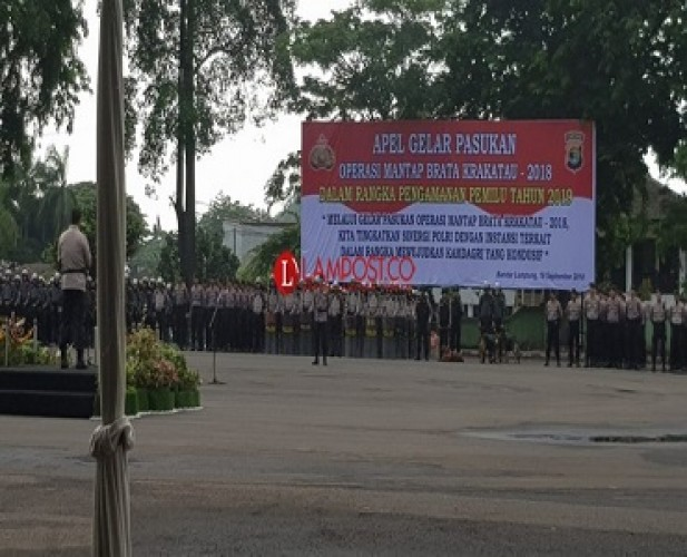 Polres Bandar Lampung Turunkan 938 Personil Amankan Nataru