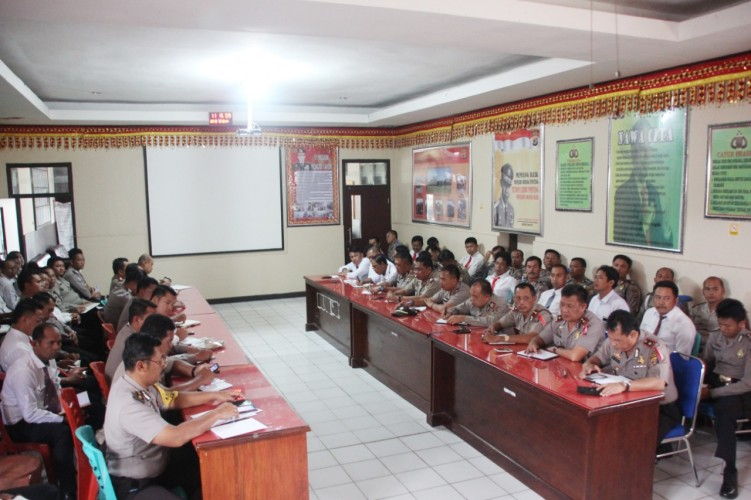 Polres Lambar Gelar Pelatihan Pra Operasi Waspada Krakatau