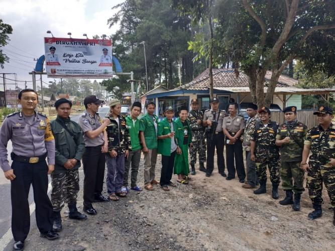 Polres Lambar Kawal Perjalanan Kirab Satu Negeri GP Ansor