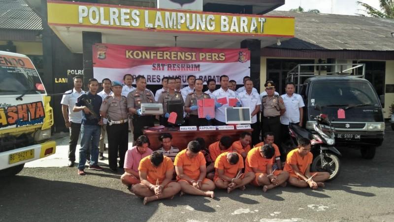 Polres Lampung Barat Ungkap Lima Kasus Kejahatan