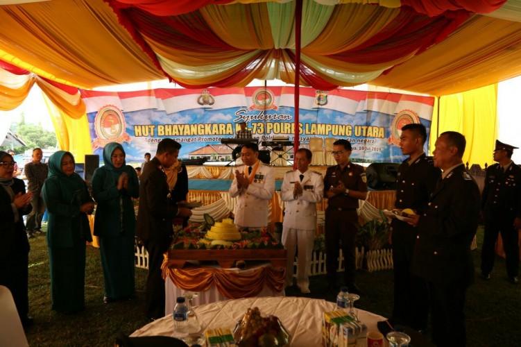 Polres Lampung Utara Gelar Syukuran Peringati HUT Bhayangkara