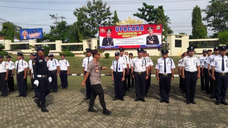 Polres Lampung Utara Gelar Upacara HUT Satpam ke- 38