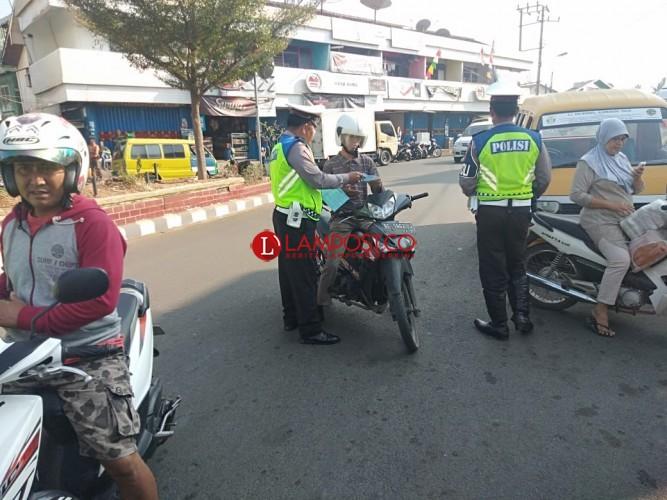 Polres Lampung Utara Keluarkan 2.687 Surat Tilang Selama Operasi Zebra