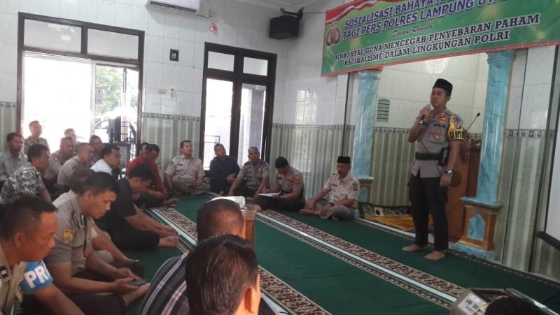 Polres Lampung Utara Sosialisasi Bahaya Radikalisme