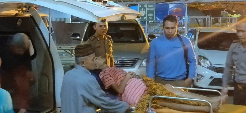 Polres Lampura Bantu Gadis Penderita Kanker Tulang Berobat ke Rumah Sakit
