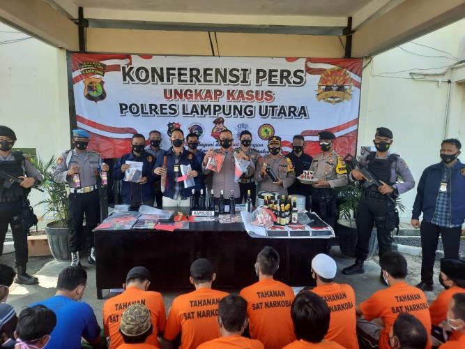 Polres Lampura Tangkap 52 Pelaku Kejahatan dalam 14 Hari