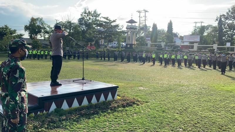 Polres Lampura Terjunkan 260 Personel Amankan Malam Takbiran