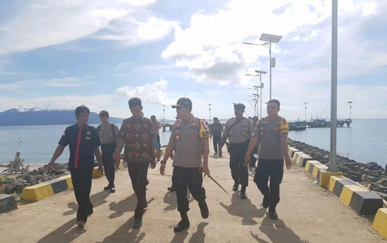 Polres Lamsel Pantau Kesiapan Pemilu di Pulau Sebesi