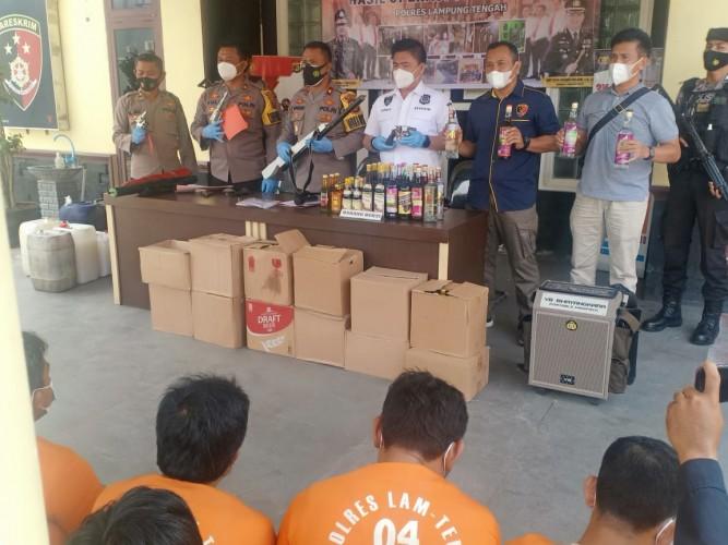 Polres Lamteng Tangkap 53 Penjahat dalam 14 Hari