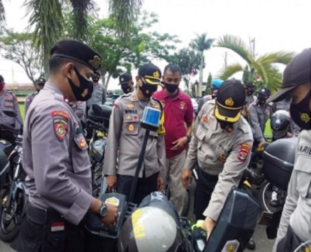 Polres Lamtim Cek Kesiapan Sarana Pengamanan Pilkada 2020