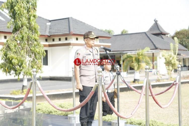 Polres Lamtim PTDH Salah Satu Perwira
